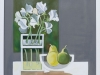 Pears and White Sweet Peas
