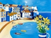 St Ives with Daffodils