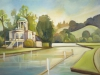 Evening at Temple Island (Oil on canvas board, 405mm x 610mm) - FOR SALE